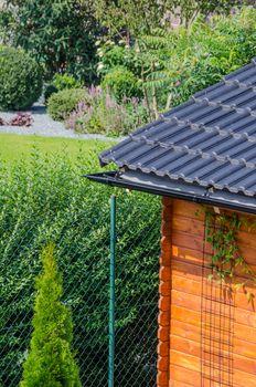 Garden house roof