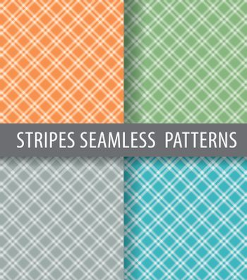 illustration of different color turned seamless patterns backgrounds