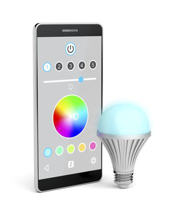 LED bulb controlled by smartphone