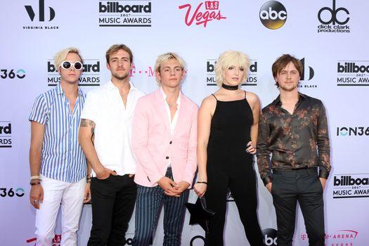 Riker Lynch, Rocky Lynch, Ross Lynch, Rydel Lynch, Ellington Ratliff at the 2017 Billboard Awards Arrivals, T-Mobile Arena, Las Vegas, NV 05-21-17
