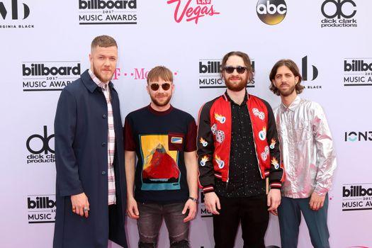 Dan Reynolds, Ben McKee, Daniel Platzman, Wayne Sermon at the 2017 Billboard Awards Arrivals, T-Mobile Arena, Las Vegas, NV 05-21-17