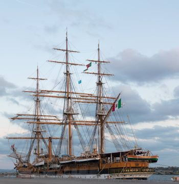 SINES, PORTUGAL: 29th april, 2017 - Tall Ships event is a big nautical event where big majestic ships with sails are presented to the public for visitation.