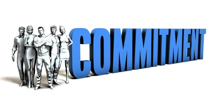 Commitment Business Concept