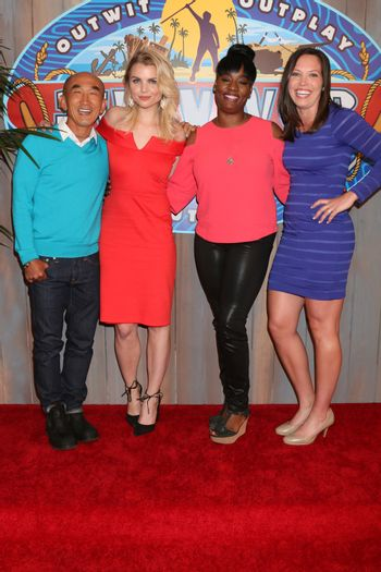 "Tai Trang, Andrea Boehlke, Cirie Fields, Sarah Lacina at the ""Survivor: Game Changers - Mamanuca Islands"" Finale, CBS Studio Center, Studio City, CA 05-24-17"