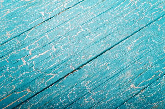 Blue wooden background with slope