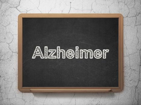 Medicine concept: Alzheimer on chalkboard background