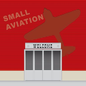 Hangar wall Small Aviation
