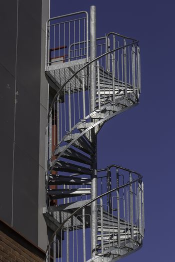 Fire Escape on building side.
