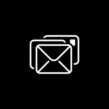 Correspondence Icon. Flat Design.