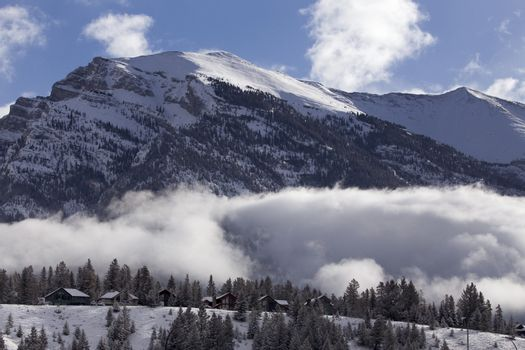 Rocky Mountains in Winter