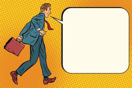 Ridiculous businessman says comic bubble