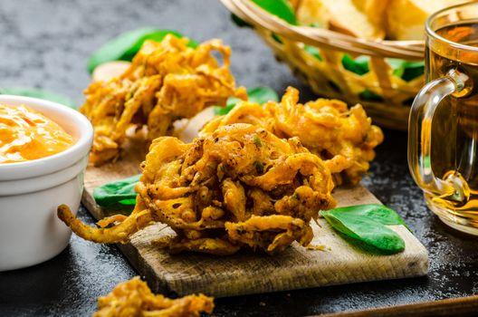 Crispy Onion Bhajis