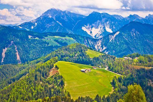 Dolomiti Alps in Alta Badia landscape view