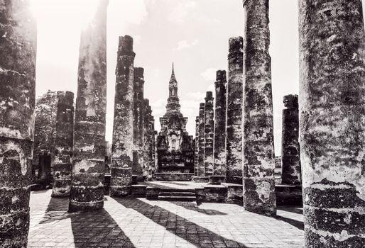 Wat Maha That in vintage style