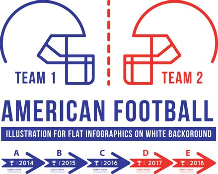 American football is the history of meetings. Infographic vector illustration on white background