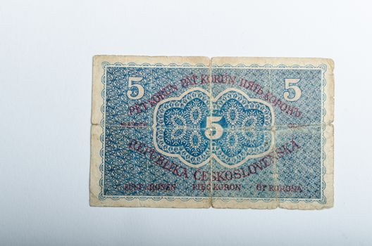 Old Czech banknotes, money