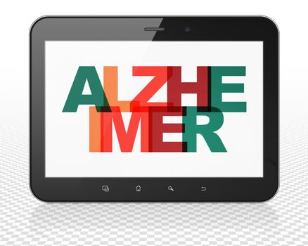 Healthcare concept: Tablet Pc Computer with Alzheimer on  display