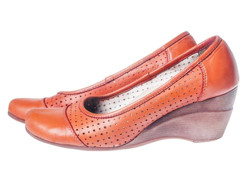 leather  Wedge shoes