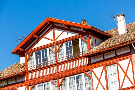Typical Basque house in Basque Country, France