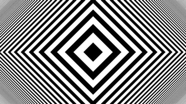 Hypnotic Rhythmic Movement Black And White stripes