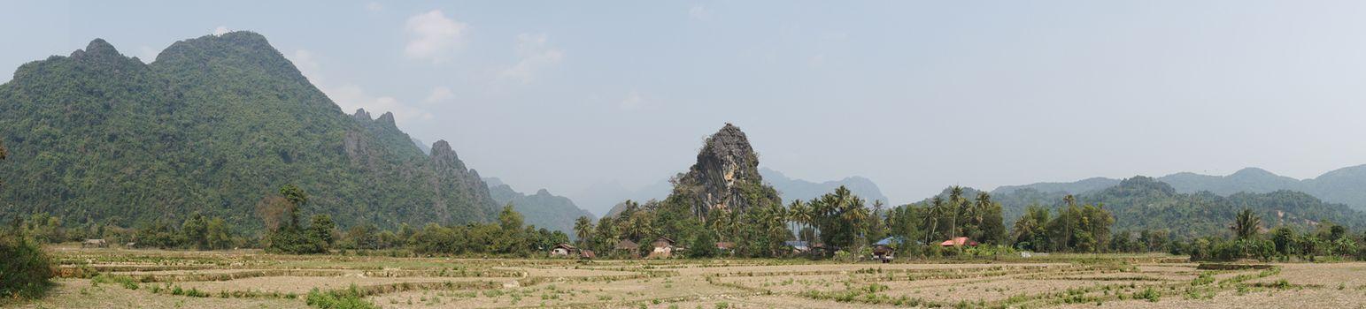 Landscape, Vang Vieng, Laos