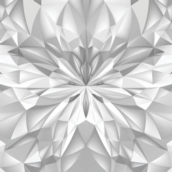 Abstract White Composition. Magic Explosion Star with Particles