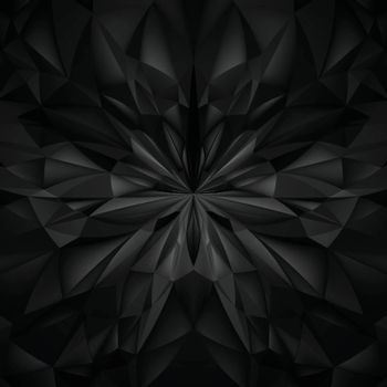 Abstract Black Composition. Magic Explosion Star with Particles