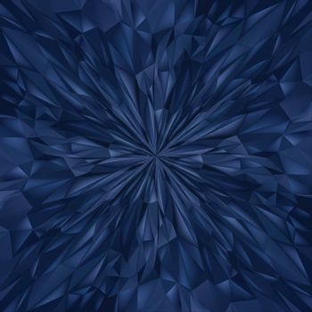 Abstract Blue Composition. Magic Explosion Star with Particles. Illustration for Design