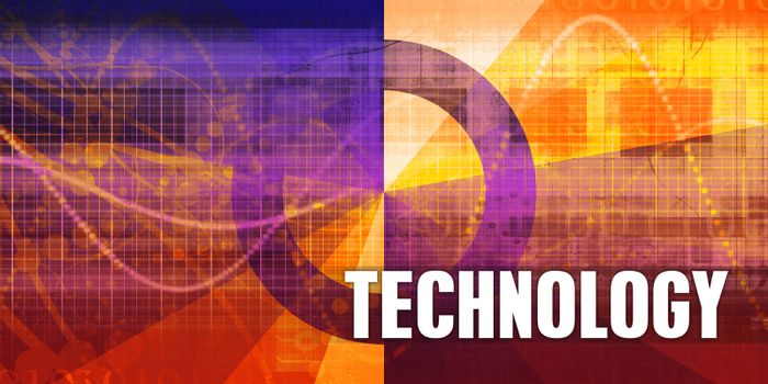 Technology Focus Concept on a Futuristic Abstract Background