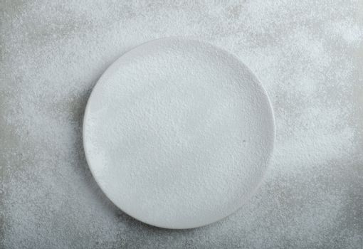 Snowy plate background