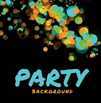 Beautiful abstract vector party background on black