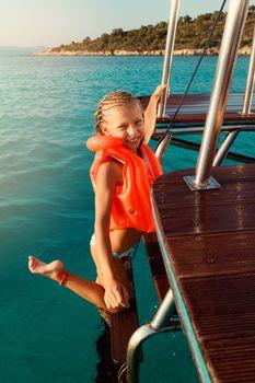 Little Girl On A Cruise