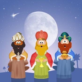 Three wise men Epiphany