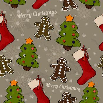 Christmas seamless texture. Vector illustration EPS8