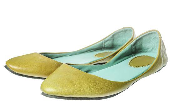yellow flat shoes
