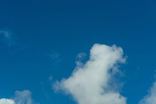 Blue sky with cloud veil