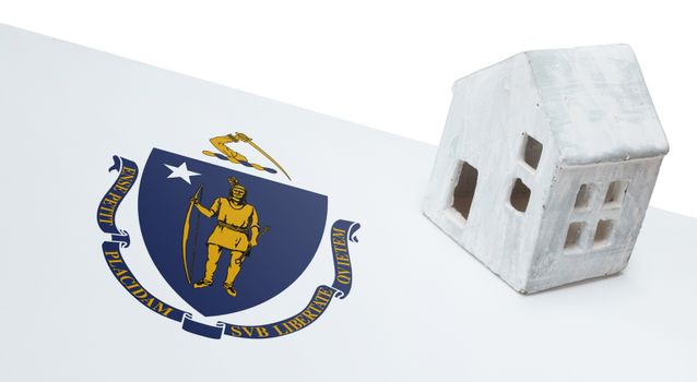 Small house on a flag - Massachusetts