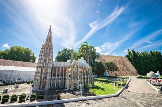 Cologne Cathedral Replica at Mini Siam in pattaya