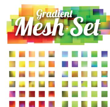 Set of gradient meshes for your design. Vector illustration