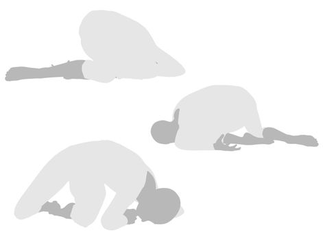 EPS 10 vector illustration of woman silhouette in Collapsed Pose