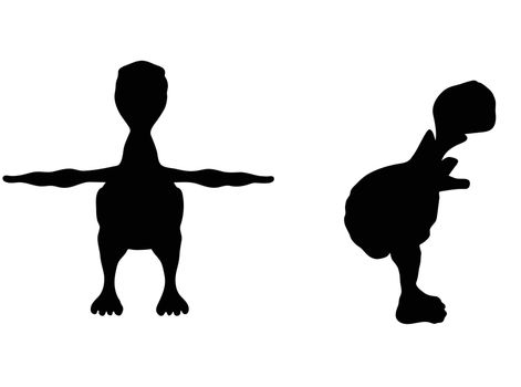 EPS 10 vector illustration of turtle, tortoise silhouette