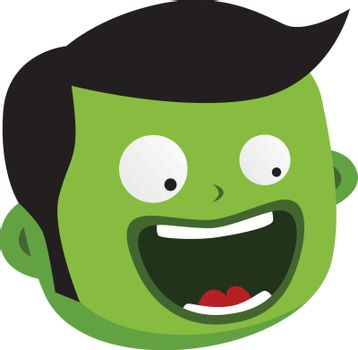 green zombie monster character