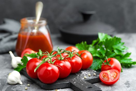 Tomatoes and tomato sauce