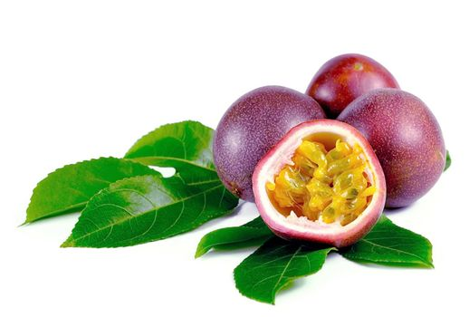 passion fruits isolated on white background