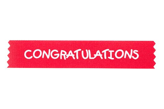 congratulation ribbon for background