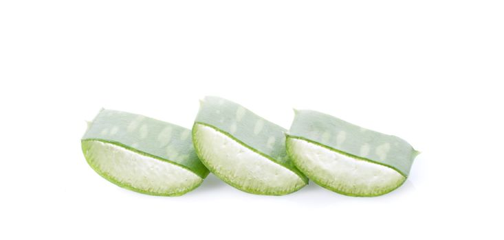 aloe vera isolated on white background
