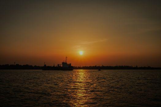beautiful sunlight sunset for background