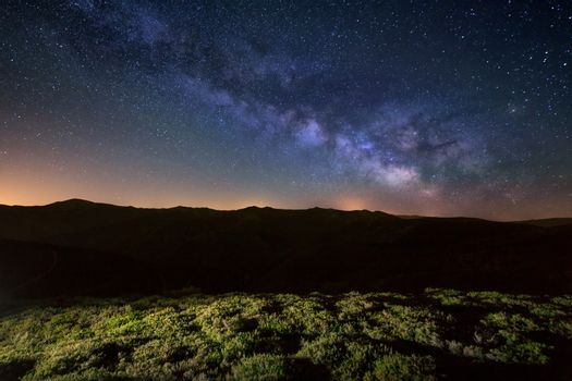 Milky Way over Sierra de la Demanda