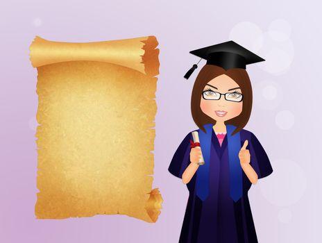 graduate girl with diploma