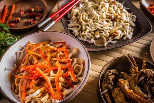 Different thai noodles